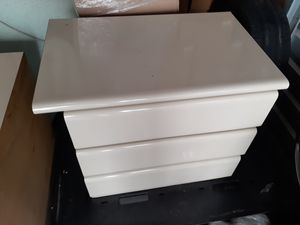 Free. 2 Lacquer night tables & storage shelf for Sale in Miramar, FL