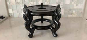 """10"""" Wooden Black Fishbowl Display Vase Stand Plant Pot Display Stand for Sale in San Marcos, CA"""