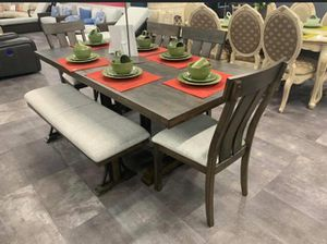 ☀️Dining room set table and chairs and bench ☀️Brand new Delivery available Financing options ☀️ for Sale in Houston, TX