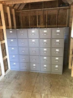 File cabinets for sale. AllSteel five drawer letter cabinets. $35 each two for $60 for Sale in Newport News, VA
