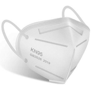 KN95 Face Mask - 50 pcs Cup Dust Mask KN95 Included on FDA EUA List, 5 Ply Layer Filter, Against PM2.5 Dust Disposable Respirator KN95 Mask White for Sale in Claremont, CA