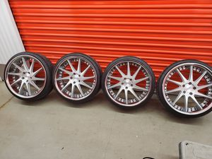 Cvzv brand new rims n tires ..too low profile for my car ..i bought them cash but can't return them ..they went on my acura for Sale in West Covina, CA