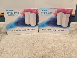 Linksys Velop AC2200 2 packs x2. 4 mesh WiFi units- can split for Sale in Coatesville, PA