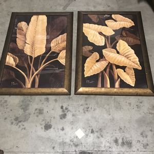 Leaf Poster Framed Decorative Wall Decal for Sale in El Monte, CA