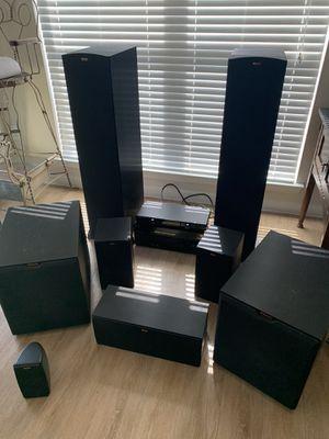 Klipsch surround sound speakers and Sony Receiver for Sale in Austin, TX