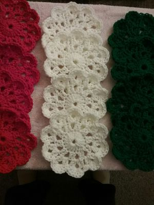 Xmas coasters/small doilies. Red, gree, white. Smoke and pet free home. .25 each for Sale in Tacoma, WA