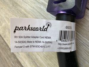 Parkworld RV 50A Splitter Adapter Cord for Sale in Kennesaw, GA