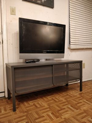 """Like new metal TV stand for big TVs with 2 shelves in great condition. L48""""*W15.5""""*H23"""" for Sale in Annandale, VA"""