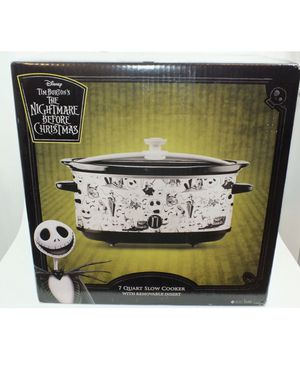 Disney The Nightmare Before Christmas Black & White 7 Quart Slow Cooker for Sale in Bakersfield, CA