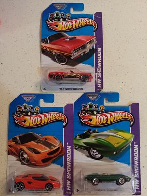 HOT WHEELS 2013 HW SHOWROOM ($2 EACH OR $5 FOR ALL 3) ***SEE OTHER POSTS*** for Sale in El Cajon, CA