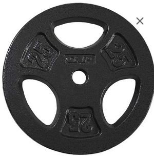 2x25 lb standard size weight plates - brand new - gym weights weight for Sale in Austin, TX