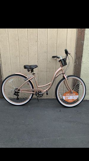 "7 GEAR LADIES ROSE GOLD BEACH CRUISER 26"" NEW LAST ONE 🔥 for Sale in Buena Park, CA"