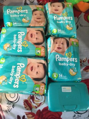 Pamper size 2 & wipes 1 box take all $40 for Sale in Paramount, CA