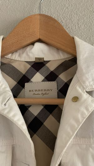 Burberry white Denim Jacket for Sale in Tacoma, WA