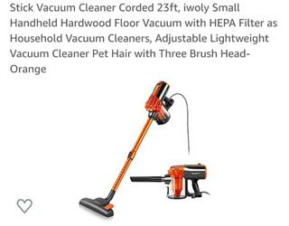 Stick Vacuum Cleaner Corded 23ft, iwoly Small Handheld Hardwood Floor for Sale in Allen,  TX