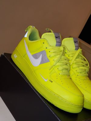 Volt Nike Air Force 1 Overbranding size 10.5 for Sale in Norfolk, VA