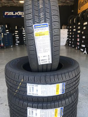 215/70/15 New set of Goodyear tires installed for Sale in Rancho Cucamonga, CA