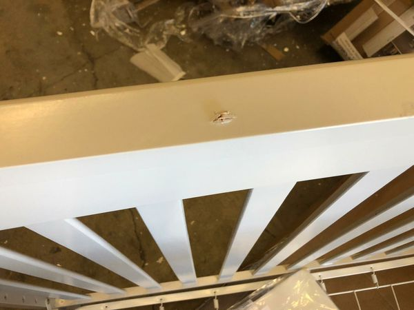 Crib with changing table minor damage but is assembled