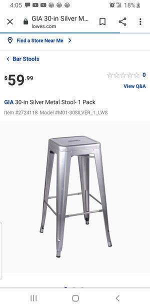 30 in metal stool for Sale in Downey, CA
