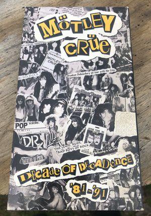Motley Crue Decade Of Decadence VHS for Sale in Richmond, VA