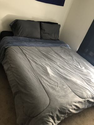 Queen bed, mattress bed frame and stand for Sale in Schenectady, NY