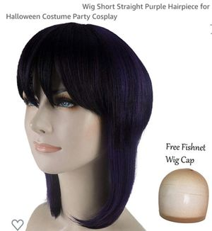 Dark Purple Black Wig W/Net New for Sale in Flower Mound, TX