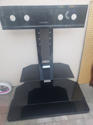 3 SHELF GLASS STAND WITH TV MOUNT for Sale in Hemet, CA