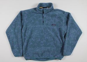 Vintage 90s Patagonia Floral Snap T Synchilla Fleece Pullover Sweatshirt Medium for Sale in Westminster, CA