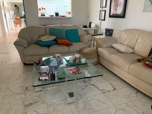 2 leather sofas pompano beach for Sale in Pompano Beach, FL