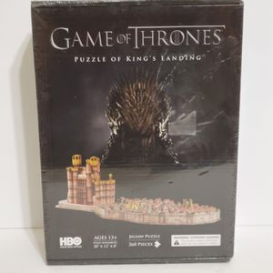 4D Cityscape Game of Thrones: 3D Kings Landing Puzzle 260 Piece SEALED for Sale in La Grange, IL