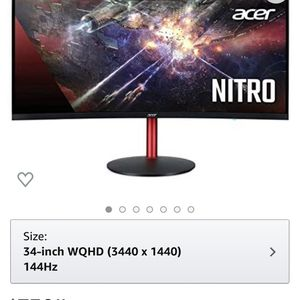 34inch Acer Ultra Wide Curved Monitor 1500R for Sale in Glendale, AZ