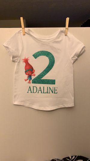 Toddler trolls birthday t shirt for Sale in Manassas, VA