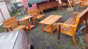5 piece outdoor cedar furniture for Sale in Portland, OR