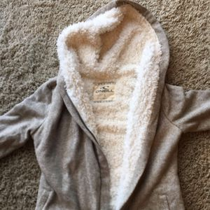 Girls Quicksilver Sherpa Lined Hoodie/Jacket - Size L for Sale in Anaheim, CA