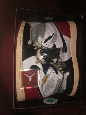 Union x Jordan 1 Black Toe size 9 for Sale in Tacoma, WA