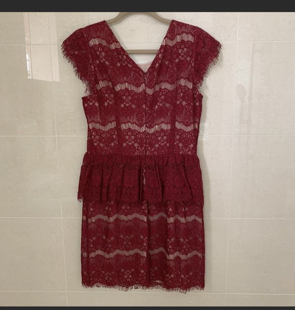 Anthropologie Maeve Elsa peplum dress size M