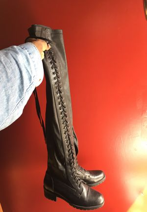 Thigh high combat boots size 10 for Sale in Baltimore, MD
