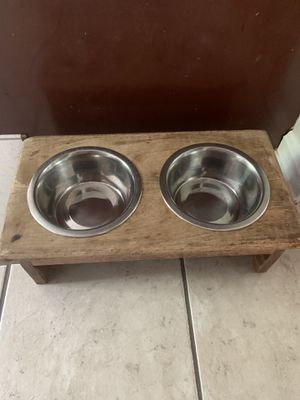 Dog bowls with stand for Sale in Lovettsville, VA