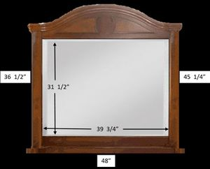 Large wood framed mirror for Sale in Portland, OR