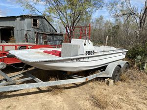 Super channel flats boat with trailer for Sale in San Antonio, TX