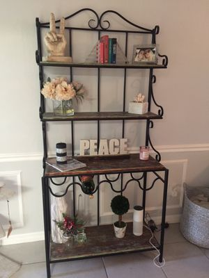 Bakers rack/ wine rack/ shelving unit for Sale in Clearwater, FL