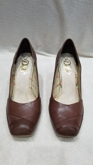 Women's Dolls brand leather brown wedge shoes, size 10 for Sale in Ithaca, NY