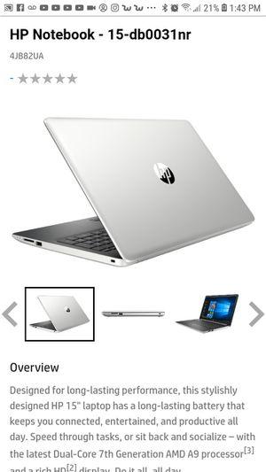 HP Notebook 15 db0031 nr for Sale in Philadelphia, PA
