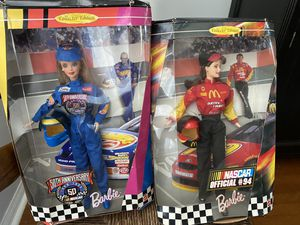 2 nascar Barbies #94 and 50th anniversary for Sale in Valrico, FL