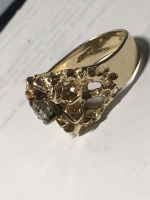 14KT Solid Gold Nugget Ring for Sale in North Miami Beach, FL