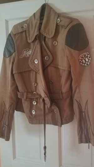 ICON MOTORSPORTS VINTAGE LOOKING MOTORCYCLE JACKET for Sale in Burrillville, RI