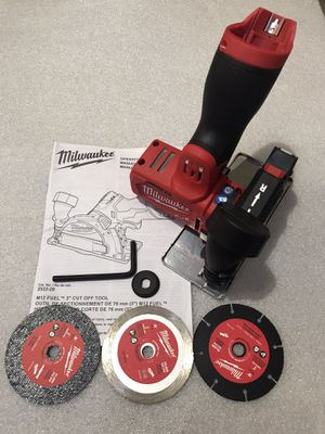Milwaukee M12 FUEL 12-Volt 3 in. Lithium-Ion Brushless Cordless Cut Off Saw Kit and tool only brand new unbox for Sale in Union City, CA