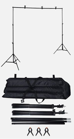 New 10x7 Feet Adjustable Backdrop Frame Kit Banner Stand Includes 3 Clamps and Carrying Bag for Sale in Montebello, CA