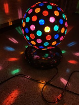 Vintage Table Electric Multicolor Disco Party Lamp for Sale in Aurora, IL