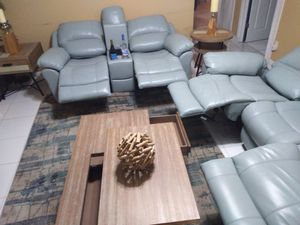 Leather recliners electric sofa for Sale in Pompano Beach, FL